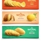 Natural Food Realistic Horizontal Banners