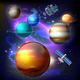 Planet Galaxy Realistic Composition - GraphicRiver Item for Sale