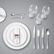Table Setting Transparent Set - GraphicRiver Item for Sale