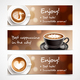 Coffee Advertising Horizontal Banners - GraphicRiver Item for Sale