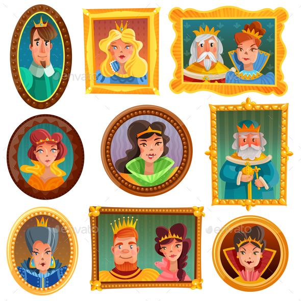 Princesses and Queens Portrait Wall - People Characters