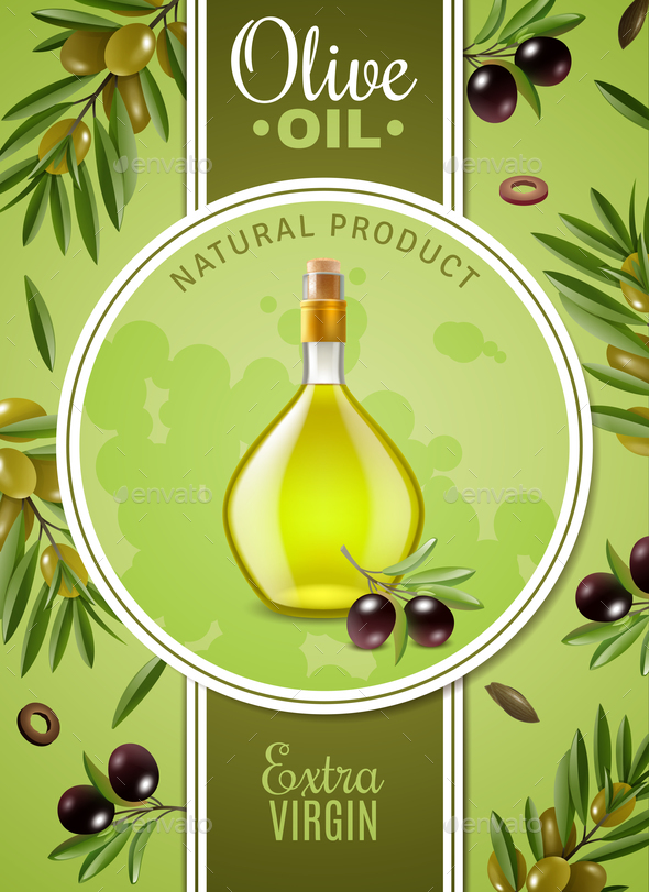Extra Virgin Olive Oil Poster - Backgrounds Decorative