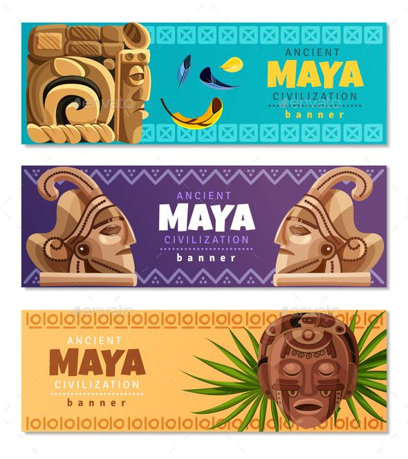 Maya Civilization Horizontal Banners - Religion Conceptual