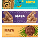 Maya Civilization Horizontal Banners - GraphicRiver Item for Sale