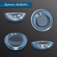 Realistic Eye Lenses Transparent Set - GraphicRiver Item for Sale