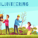Eco Volunteering Cartoon Composition - GraphicRiver Item for Sale