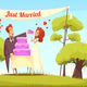 Just Married Cartoon Illustration - GraphicRiver Item for Sale