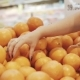 Young and Beautiful Woman in Supermarket Buying Fresh and Healthy Oranges and Fruits for Family. Arm - VideoHive Item for Sale