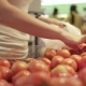 Young and Beautiful Woman in Supermarket Buying Fresh and Healthy Tomatoes and Vegetables for Family - VideoHive Item for Sale