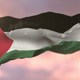 Flag of Palestine at Sunset - VideoHive Item for Sale