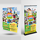 Kids Summer Camp Flyer with Roll-Up Bundle - GraphicRiver Item for Sale