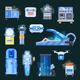 Cryonics Human Organs Transplantation Icons