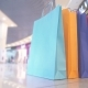 Color Packages for Shopping in the Mall with People on the Background - VideoHive Item for Sale