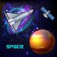 Stars Exploration Realistic Background