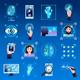Identification Technologies Icons Set