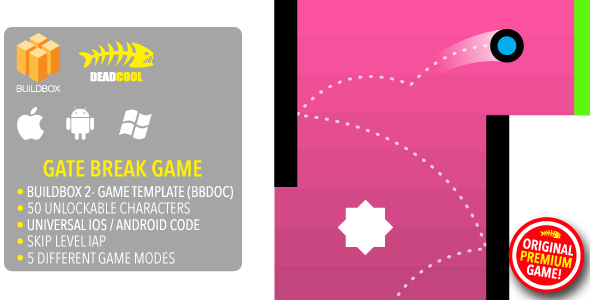 Gate Break - BuildBox 2 Game Template Document - iOS / Android / BBDOC            Nulled