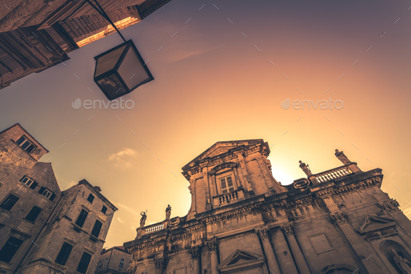 Old historical building in Dubrovnik Old Town - Stock Photo - Images