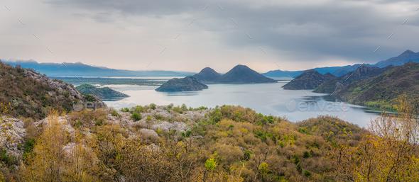 Skadar Lake National Park panorama - Stock Photo - Images
