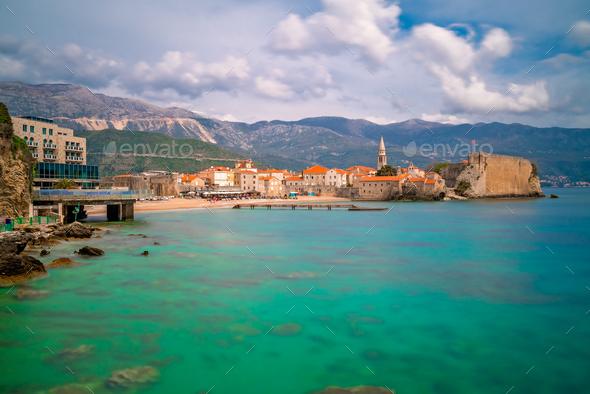 Beautiful Adriatic sea coast around Budva - Stock Photo - Images