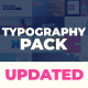 Typography Pack - VideoHive Item for Sale