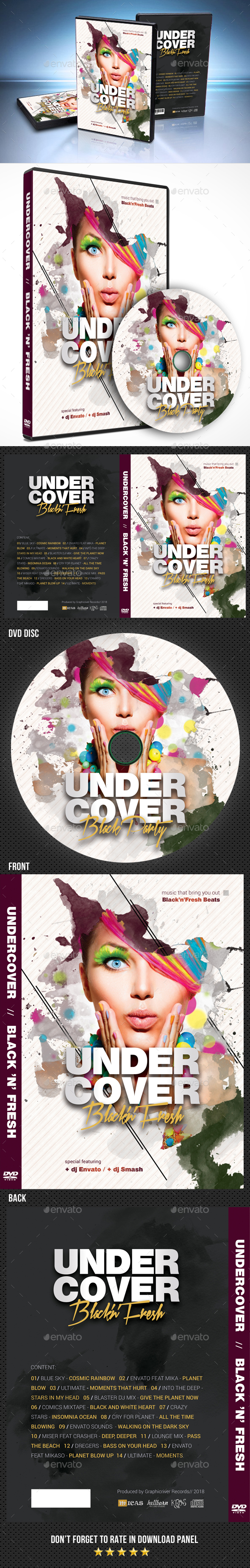 Undercover DVD Cover - CD & DVD Artwork Print Templates