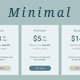 Minimal Price Tables - GraphicRiver Item for Sale