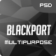 BlackPort - Personal Portfolio & Resume PSD Template - ThemeForest Item for Sale