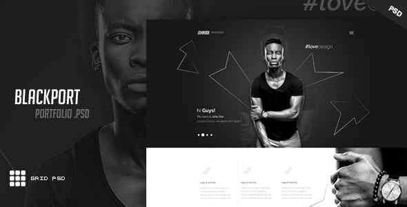 BlackPort – Personal Portfolio & Resume PSD Template