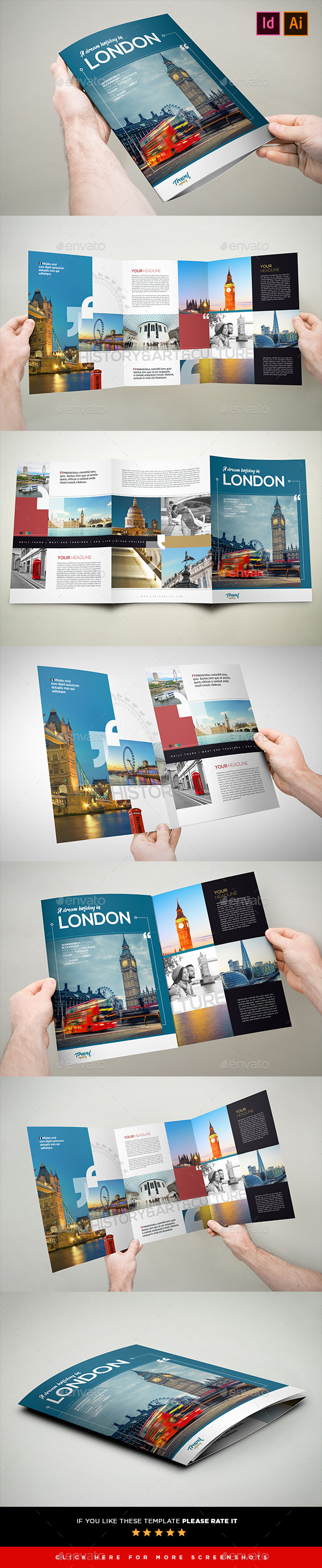 3xA4 Travel & Holiday Brochure - Brochures Print Templates