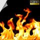 Out of Focus Realistic Fire Line in Super Slow Motion - Alpha Channel - VideoHive Item for Sale
