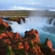 Fantastic Sunset. Hodafoss Very Beautiful Icelandic Waterfall 12 Meters High. It Is Located in the - VideoHive Item for Sale