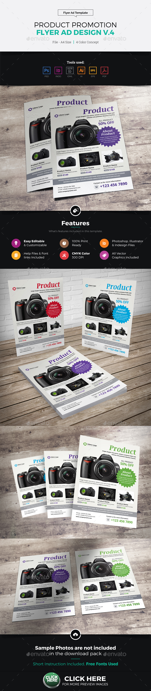 Product Sale Promotion Flyer Ad Design v4 - Corporate Flyers