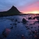 Fantastic Sunset in Iceland, a Sharp-mountain Mountain and a Pink Sky Make an Incredible Picture - VideoHive Item for Sale
