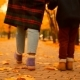 Senior Couple Are Having a Walk with Grandson in the Autumn Park - VideoHive Item for Sale