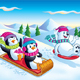 Penguins and Polar Bear Sledding - GraphicRiver Item for Sale