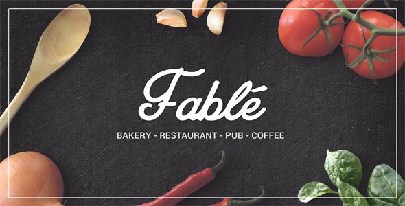 Fable - Restaurant  Bakery Cafe Pub WordPress Theme