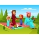 Family Outdoor Picnic Vector Illustration - GraphicRiver Item for Sale
