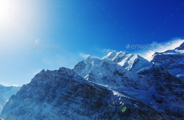 Kanchenjunga region - Stock Photo - Images