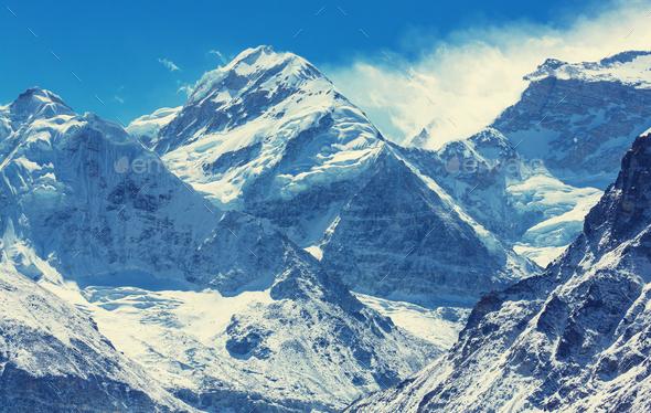 Kanchenjunga region - Stock Photo - Images