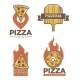 Italian Pizzeria and Pizza Delivery Promo Emblems - GraphicRiver Item for Sale