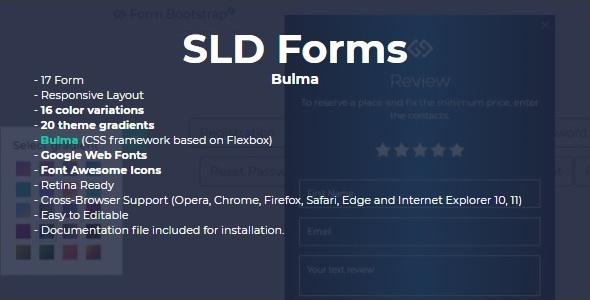 SLD Form Bulma - CodeCanyon Item for Sale