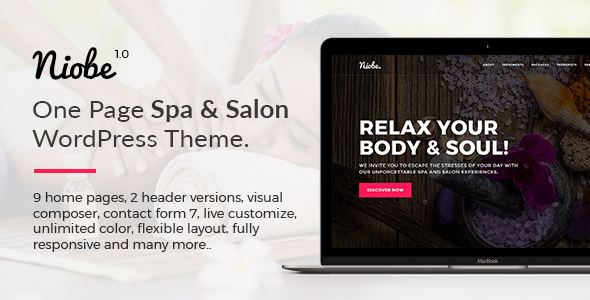Niobe - Spa & Salon WordPress Theme - Health & Beauty Retail