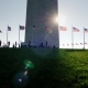 People Are Resting Near the Washington Monument in the Very Center of the American Capital. The Sun - VideoHive Item for Sale