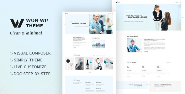 WON Creative Minimal WordPress Theme - Portfolio Creative