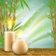 Spa Background with Bamboo and Aroma Candles