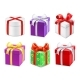 Colorful Gift Boxes with Bows and Ribbons - GraphicRiver Item for Sale
