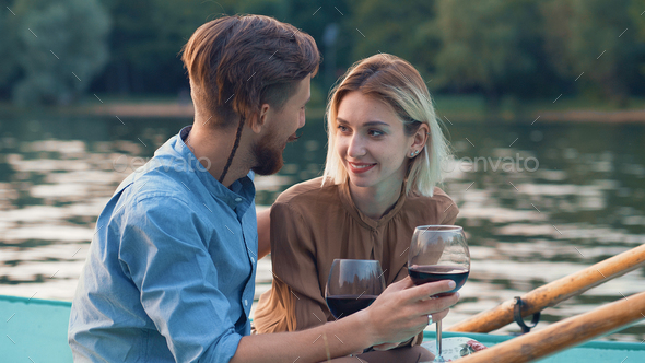 Smiling couple on vacation - Stock Photo - Images