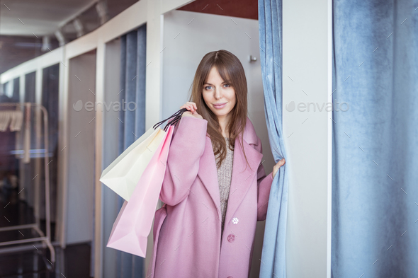 Attrractive girl with shopping bags - Stock Photo - Images
