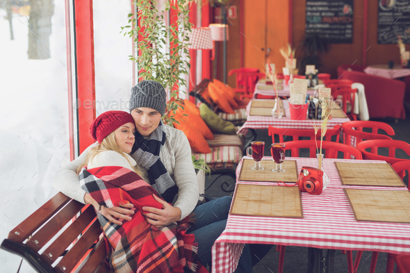 Young attractive couple on a date - Stock Photo - Images