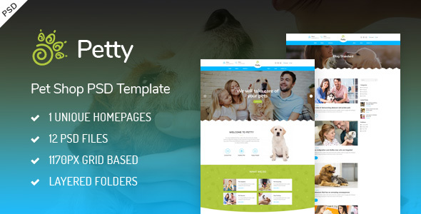 Pet Shop - PSD Template - Retail PSD Templates